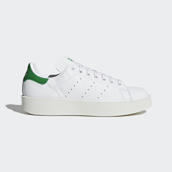 3454c5144ad9f9 Stan Smith Bold Shoes Cloud White   Cloud White   Green S32266
