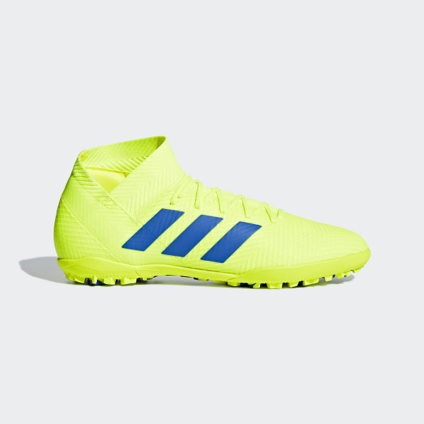 buy popular 412a6 aeff1 Nemeziz Tango 18.3 Turf Shoes Solar Yellow  Football Blue  Active Red  BB9465