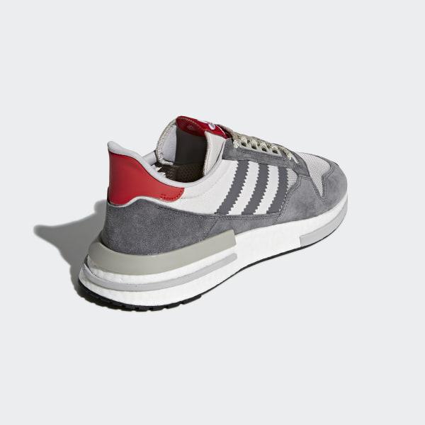 ZX 500 RM Shoes Grey   Cloud White   Scarlet B42204 4a002300de