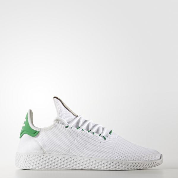 new styles 9ce03 b82b2 Pharrell Williams Tennis Hu Primeknit Schuh Ftwr WhiteFtwr WhiteGreen  BA7828