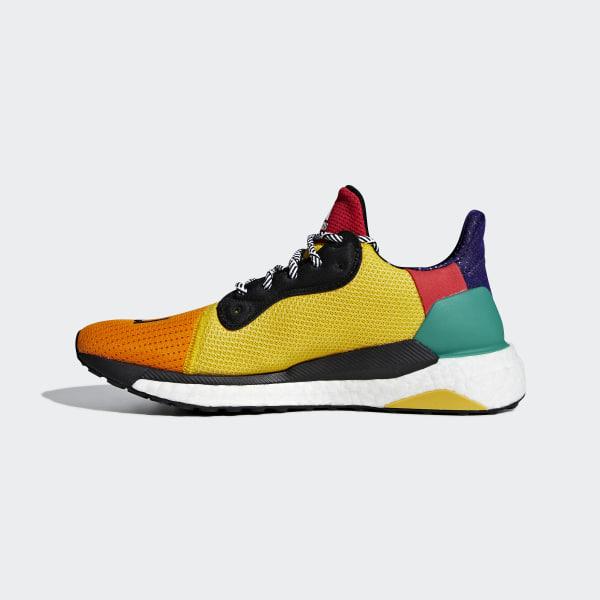 37b389aff91c0 Pharrell Williams x adidas Solar Hu Glide ST Shoes Cloud White   Collegiate  Burgundy   Yellow