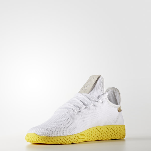 ba0b6407a Pharrell Williams Tennis Hu Primeknit Shoes Cloud White   Cloud White    Cloud White BY2674