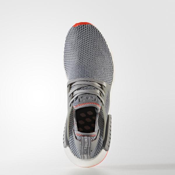 the latest ebb48 61cae NMDXR1 Shoes Grey ThreeGrey ThreeSolar Red BY9925