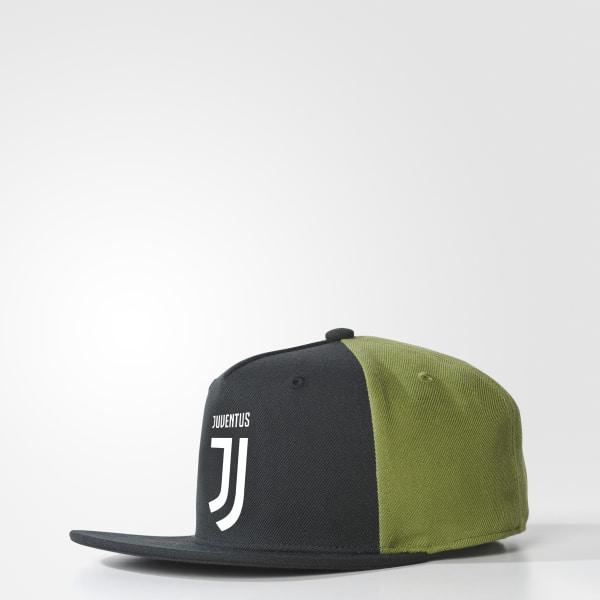 0068888a35e Juventus Flat-Brim Hat Black   Craft Green   White CD9141