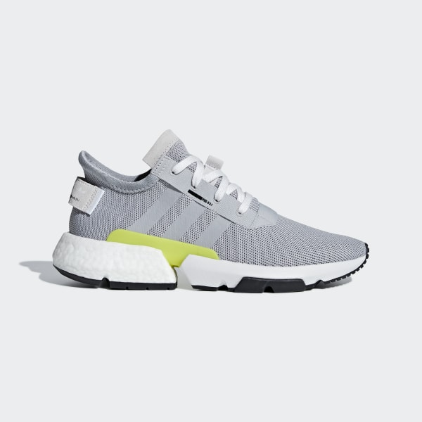 8f9bd71824b7 POD-S3.1 Shoes Grey Two   Grey Two   Shock Yellow B37363