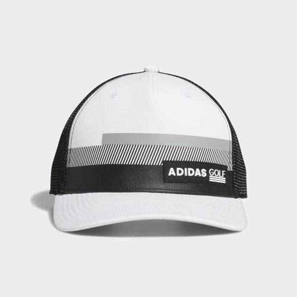 343698e4e30 adidas Stripe Trucker Hat - White