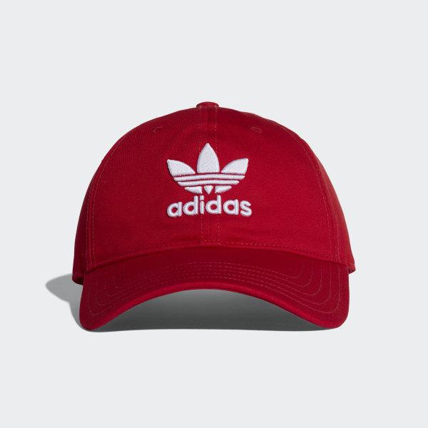 9927c4ba2dc0a Trefoil Classic Cap Collegiate Red   White DJ0884