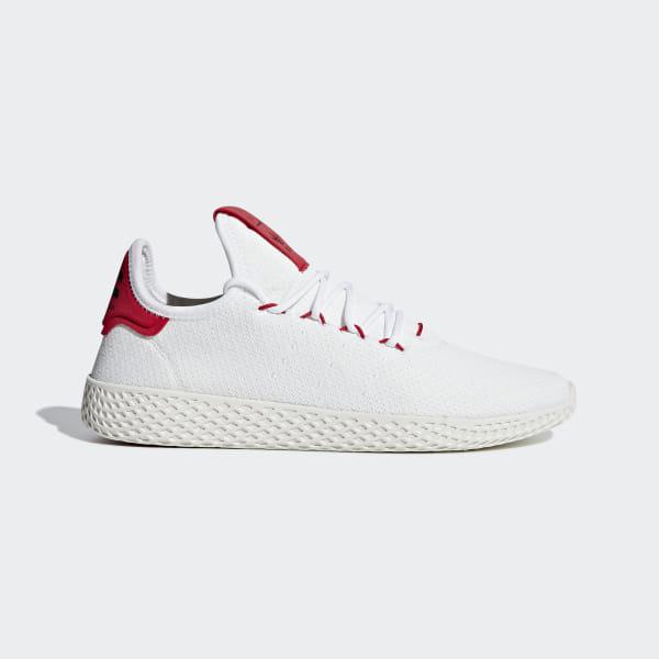 the best attitude b0895 5f013 Pharrell Williams Tennis Hu Shoes Ftwr White   Scarlet   Chalk White BD7530