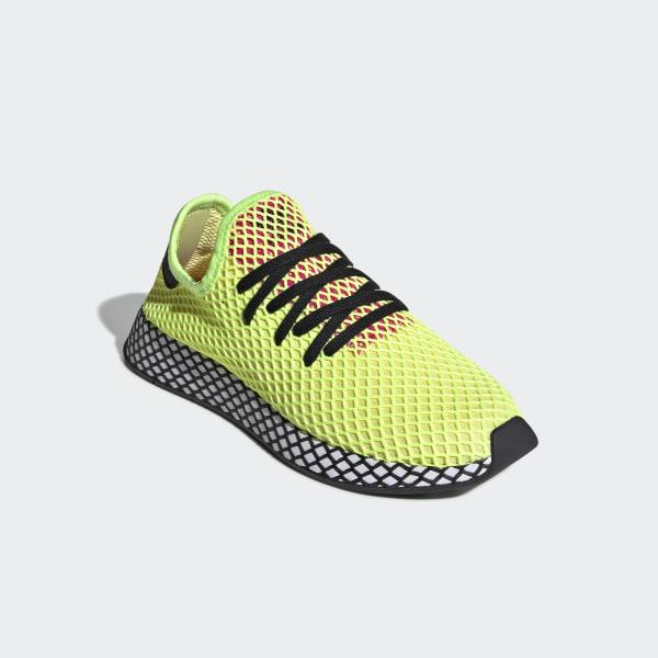 93f4ac996d5f Deerupt Runner Shoes Hi-Res Yellow   Core Black   Shock Pink CG5943