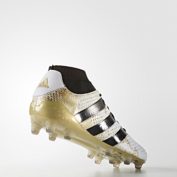 Botines de fútbol suelo firme ACE 16.1 PRIMEKNIT WHITE CORE BLACK GOLD MET. 33ce4087faf97