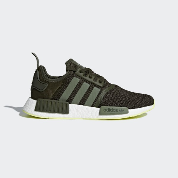on sale 680db f5ded NMD R1 Shoes Night Cargo   Base Green   Semi Frozen Yellow CQ2414