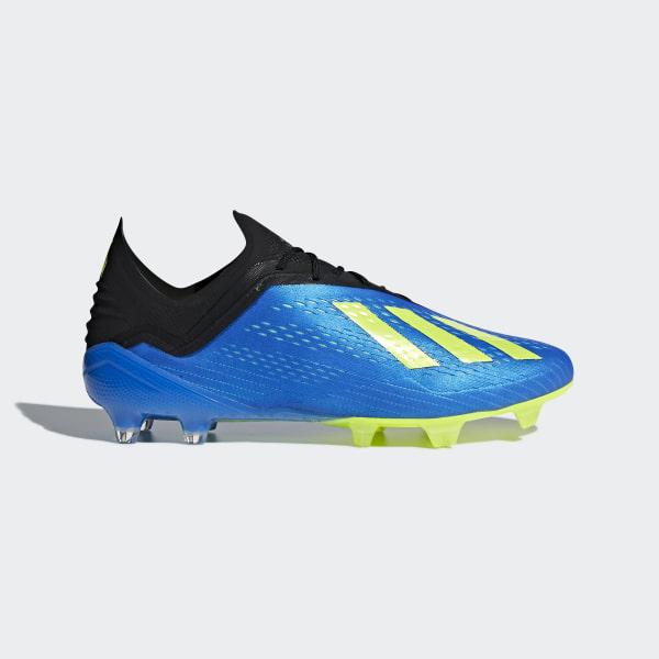 hot sale online c66bc 4b744 Calzado de Fútbol X 18.1+ Terreno Firme FOOTBALL BLUE SOLAR YELLOW CORE  BLACK