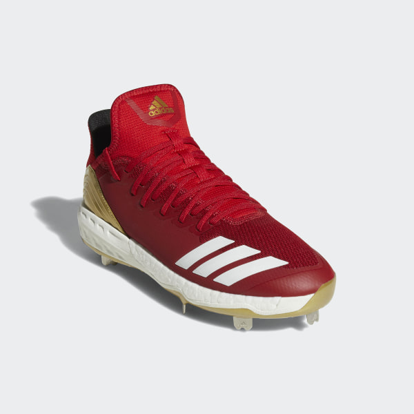 official photos 4ee1d 3978a Boost Icon 4 Cleats Power Red   Running White   Scarlet AQ0098