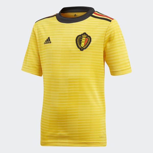 Camisola Alternativa da Bélgica Yellow Black Vivid Red BQ4537 4f67bd5767668
