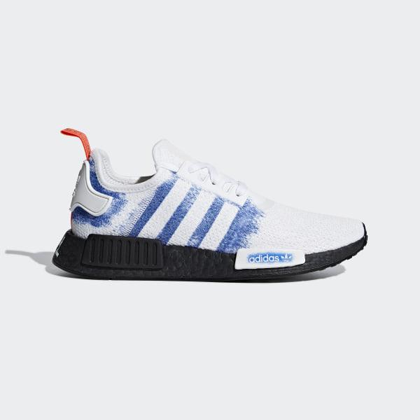 3a747310e57 NMD R1 Shoes ftwr white   bold blue   core black G28731