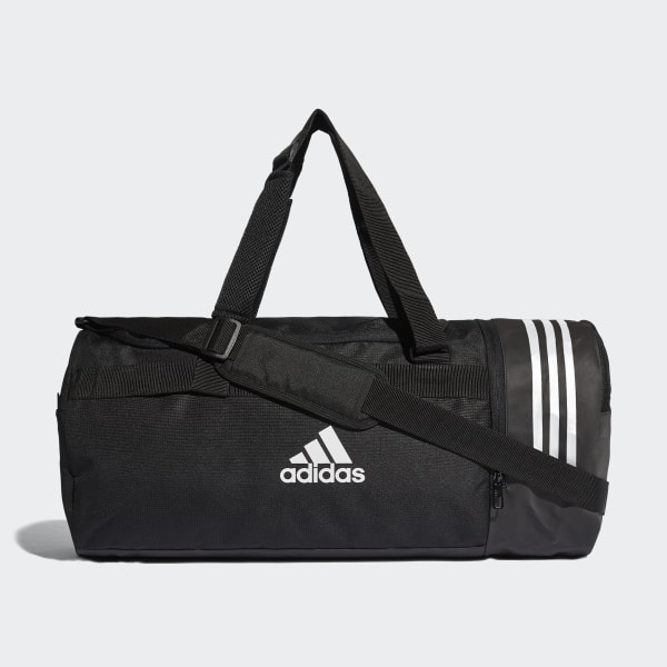79cd8d5cf4a0 Convertible 3-Stripes Duffel Bag Medium Black White White CG1533