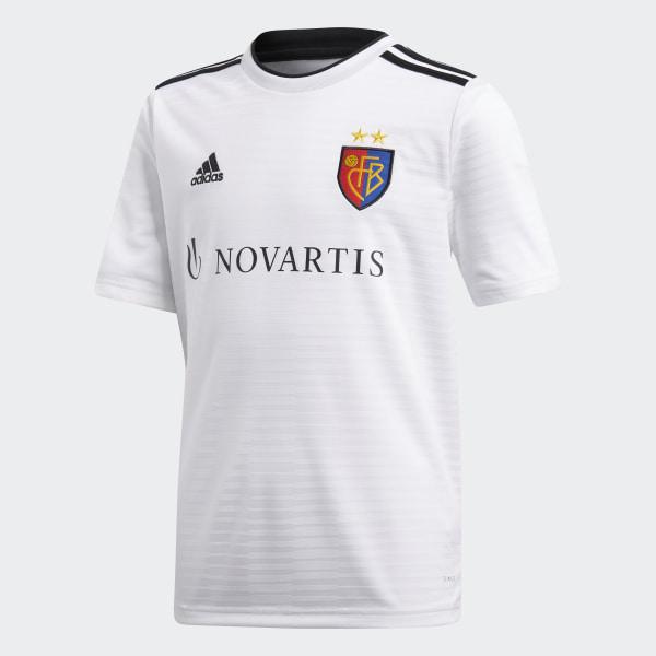 62d8c49fdd09a Camiseta segunda equipación FC Basilea White   Black CG0530