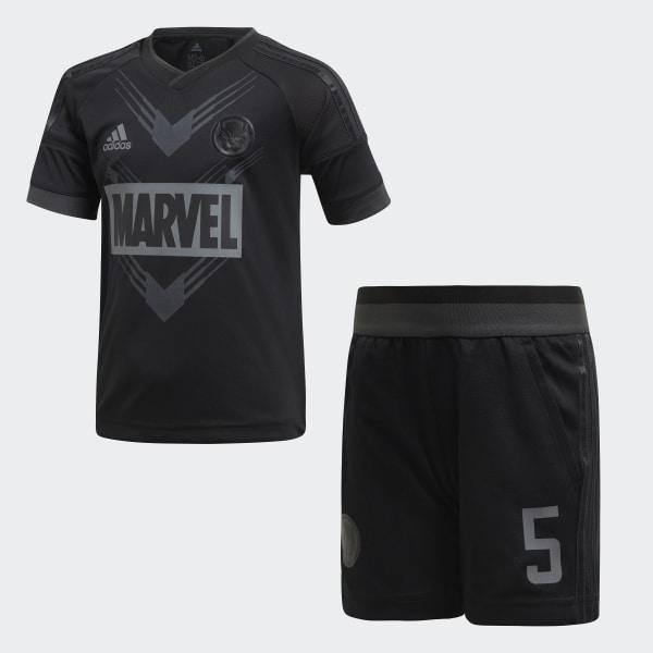 3db8731127768 Conjunto para Fútbol Marvel Pantera Negra BLACK CARBON S18 BLACK CARBON S18  DI0196