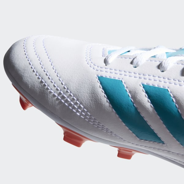 uk availability 82b1b 7c978 Goletto 6 Firm Ground Cleats Cloud White   Energy Blue   Easy Coral BY2774