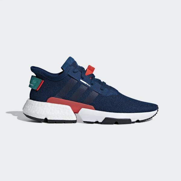 29cff5f3833f5 POD-S3.1 Shoes Blue Night   Hi-Res Red   Sub Green