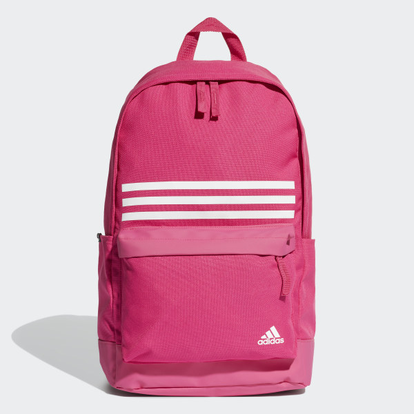 adidas Classic 3-Stripes Pocket Backpack - Pink  67ae871528032