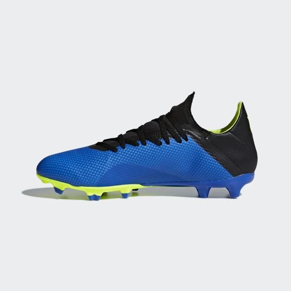 wholesale dealer ab85c 944bd X 18.3 Firm Ground Boots Football Blue   Solar Yellow   Core Black DA9335