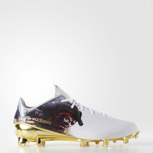 sports shoes 2c3d8 b4c7c adizero 5-Star 5.0 Uncaged Cleats Cloud White   Cloud White   Gold Metallic  D70179