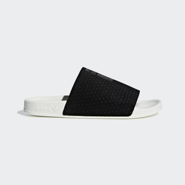 9e6413d066e3 Adilette Luxe Slides Core Black   Core Black   Off White CG6554