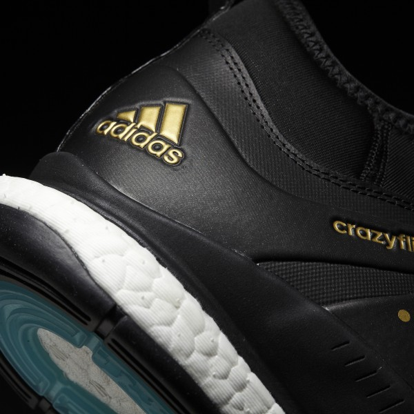 fa4833580f9 Crazyflight X Mid Shoes Core Black   Gold Metallic   Icey Blue BY2446