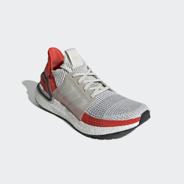 08875255b2590 Ultraboost 19 Shoes Raw White   Cloud White   Active Orange F35245