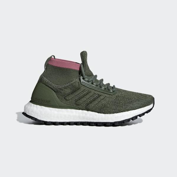 5cd97f2f57ea6 Ultraboost All Terrain Shoes Base Green   Base Green   Trace Maroon B43520