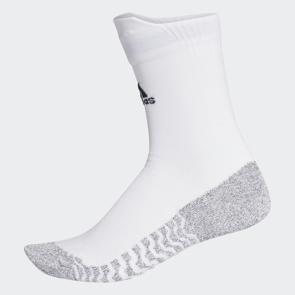2e9eb34830a adidas Alphaskin Traxion Ultralight Crew Socks - White