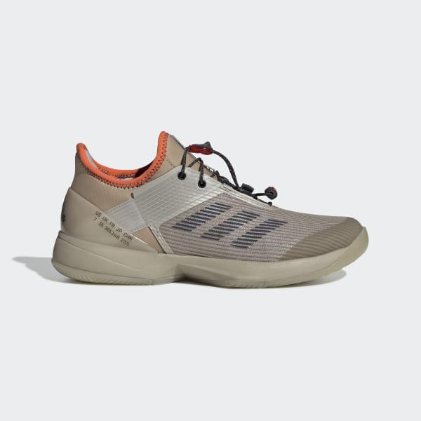 767e844ab8a6 Adizero Ubersonic 3 Citified Shoes Light Brown   Grey Six   True Orange  CG6520