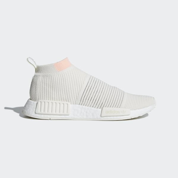 5c9f807165a3c NMD CS1 Primeknit Shoes Running White   Running White   Clear Orange AQ1136