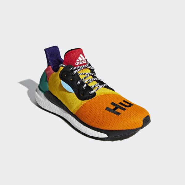 991534fed64a5 Pharrell Williams x adidas Solar Hu Glide Shoes Black   Bold Gold   Bold  Green BB8042