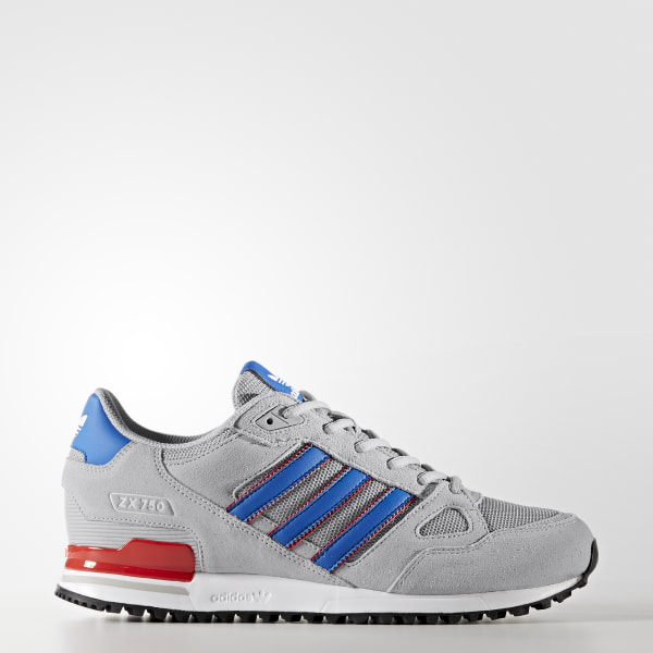 the latest 58a8e 045c3 Tenis ZX 750 GREY TWO F17 BLUE CORE RED S17 BY9271