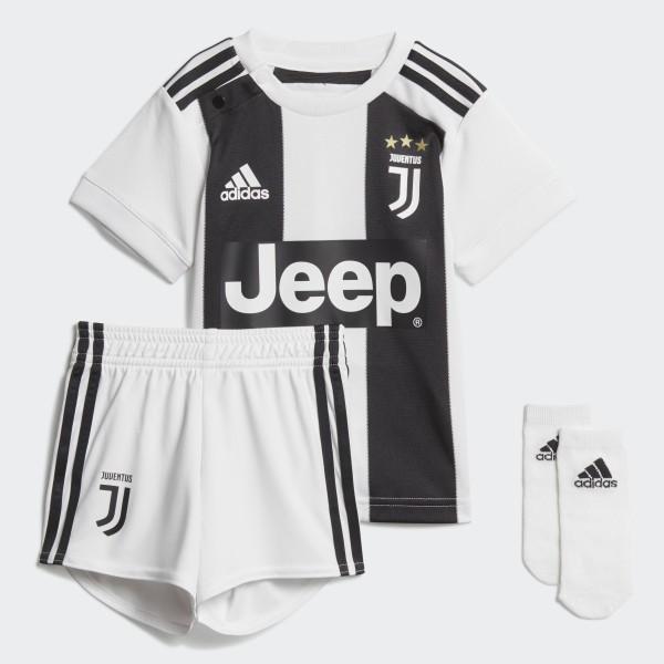 6cd96a34e1311 Miniconjunto primera equipación Juventus White Black CF3492