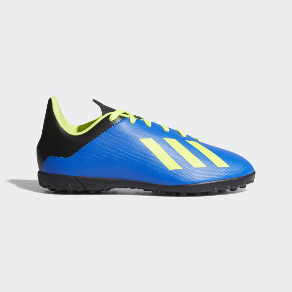 Zapatos de Fútbol X Tango 18.4 Césped Artificial FOOTBALL BLUE SOLAR YELLOW CORE  BLACK 01dbbbc45539a