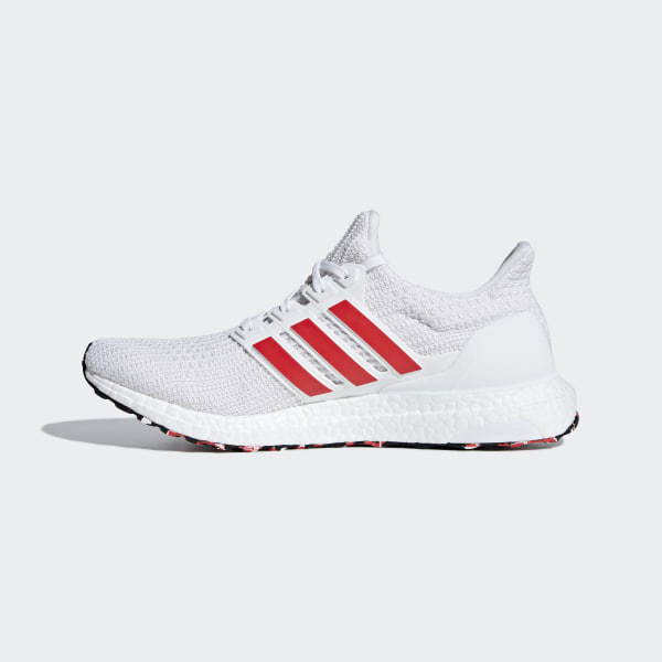ad0ce5f110b7 Ultraboost Shoes Cloud White   Active Red   Chalk White DB3199