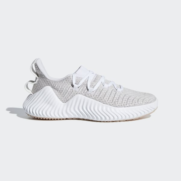 247fd1795 Alphabounce Trainer Shoes Cloud White   Cloud White   Ash Pearl B75780