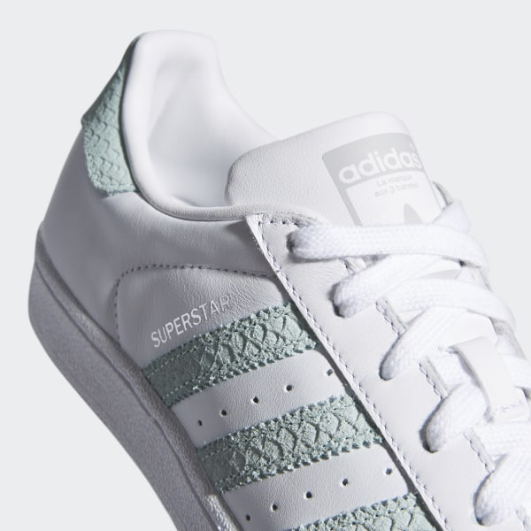 finest selection 95fa7 4b7f1 Superstar Shoes Cloud White  Ash Green  Silver Metallic B41509