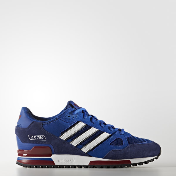 official photos 36d27 3909a Tenis ZX 750 COLLEGIATE ROYAL FTWR WHITE DARK BLUE BB1220