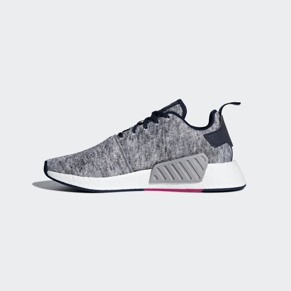 eaf1d3390 UA SONS NMD R2 Shoes Core Heather   Matte Silver   Cloud White DA8834