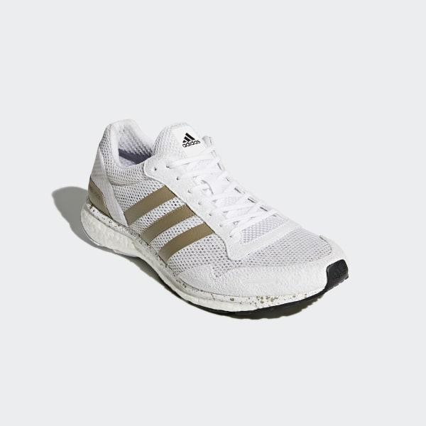 new product bb4cf e680f adizero Adios 3 Shoes Cloud White  Cyber Metallic  Core Black BB6439
