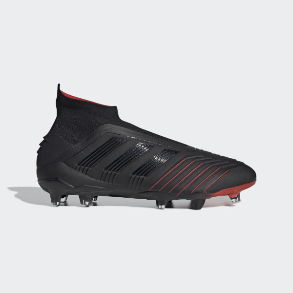 fae66b4fdc43 Predator 19+ Firm Ground Boots Core Black   Core Black   Active Red BC0549