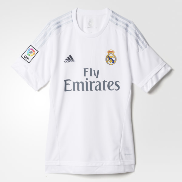 Camiseta de local del Real Madrid WHITE CLEAR GREY S12652 fde68350fdaa5
