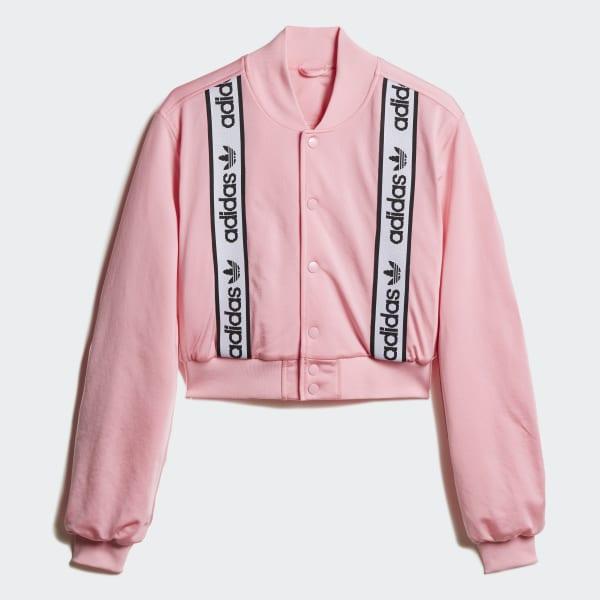 adidas bomber jacket pink