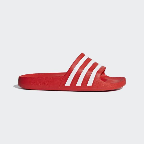 71e90f2e4931 adidas Adilette Aqua Slides - Red