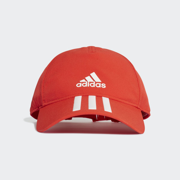 c36a3ef2c85f5 Gorra C40 3 Franjas Climalite active red   white DT8545