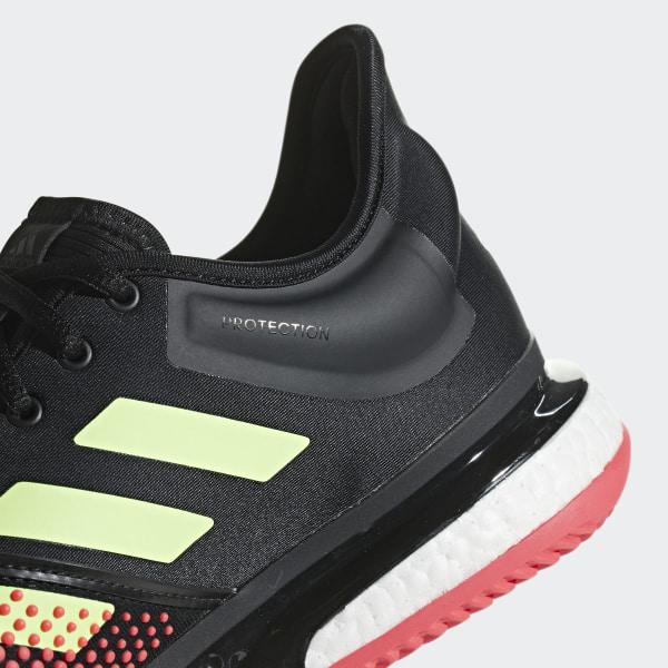 c692db7954d Zapatillas SoleCourt Boost M Core Black   Hi-Res Yellow   Shock Red AH2131